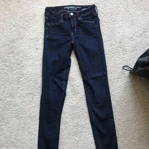 American Eagle Mid Rise Dark Wash Jeggings